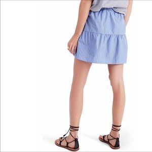 Madewell Skirts - Madewell Blue and White Pin Stripe Button Skirt